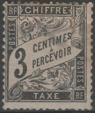 "FRANCE STAMP TIMBRE TAXE N° 12 "" TYPE DUVAL 3c NOIR "" NEUF x TB A VOIR"