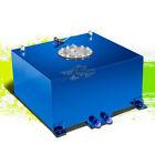 10 GALLON/38L LIGHTWEIGHT BLUE ALUMINUM GAS FUEL CELL TANK+SENDER 16.5X16.5X9