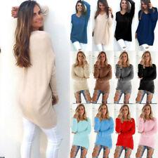 Dame Winter Warme Herbst Fleece Pullover Longtop Pullover Pulli Freizeit Tops