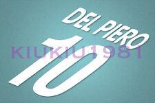 Juventus Del Piero #10 2000-2001 Homekit Nameset Printing