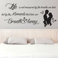 Romantic Couple Vinyl Sticker Wall Decal Abstract Loving Quote Room Art Decor