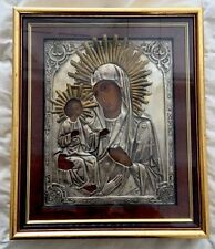 ANTIQUE RUSSIAN ORTHODOX ICON OF THE VIRGIN THEOTOKOS MARY WITH 3 HANDS & JESUS