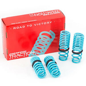 Godspeed Traction-S Lowering Springs For Acura Integra 90-93 Powder Coated