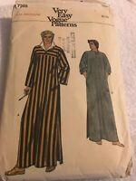 Vintage Vogue Very Easy 7255 Men's Caftan Robe Sewing Pattern Size M 38-40 Cut