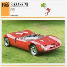 1966 BIZZARRINI P538 Racing Classic Car Photo/Info Maxi Card