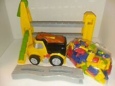 Spin Master Knock it Down Block Town Domino Building Game Dump Truck Set Bb12