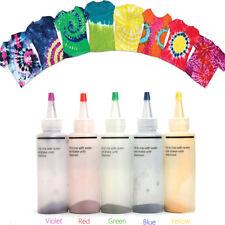 5pcs Tulip One Step Tie Dye Kit Vibrant Fabric Textile Permanent Paint Colours R