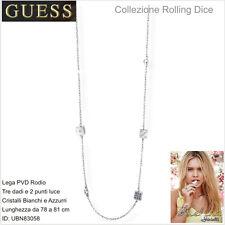 Collana Guess Collezione Rolling Dice UBN83058  - 69- Colore Silver- Cristalli