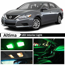13x Green LED Lights Interior Package Kit for 2015-2016 Altima