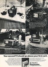 1977 Panasonic Portable TV Televsions Original Advertisement Print Art Ad J883