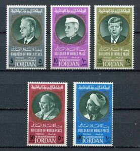 29701A) Dealer Stock Jordan 1967 MNH Builders Of World Peace 5v (X10 Sets)