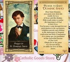 St. Dominic Savio with Prayer to Saint Dominic - Glossy Paperstock Holy Card