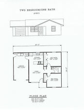 672 square foot two bedroom house plan