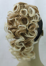 New Curly Synthetic Black Brown BlondeClawClip Ponytail Hair Piece ExtensionUPDO