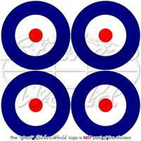 """RAF Royal Air Force Type A Roundel 50mm/2"""" Stickers x4"""