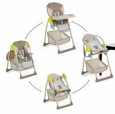 NEW HAUCK MULTI DOT SAND SIT N RELAX 2 IN 1 HIGHCHAIR BABY HIGH CHAIR / BOUNCER