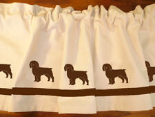 Boykin Spaniel Dog Window Valance or Shower Curtain cropped or uncropped
