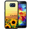 PERSONALIZED CASE FOR SAMSUNG S9 S8 S7 S7 S6 PLUS RUBBER FIELD OF SUNFLOWERS