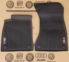 Audi A4 B9 8W original S4 Fußmatten Gummimatten vorne Gummifußmatten rubber mats