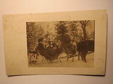Danzig - 1909 - Männer und Frauen auf Schlitten im Schnee - Winter / Foto