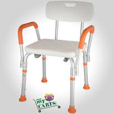 Post Adjustable Medical Shower Chair Bathtub Bench Bath Seat Aid Stool Orange
