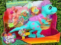 Cave Club Dolls Rockelle & Tyrasaurus T-Rex Dinosaur ** NEW** TOYS Doll & Pet