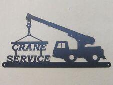 CUSTOM CRANE SERVICE SIGN TEXTURED BLACK POWDER COAT FINISH