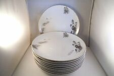 Vintage Fukugawa Arita Japan Landscape Set of 10 Dinner Plates