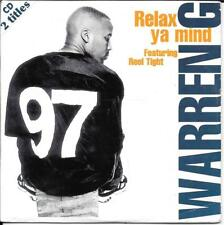 CD SINGLE 2 TITRES--WARREN G FEAT. REEL TIGHT--RELAX YA MIND--1997