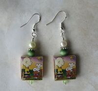 Thanksgiving Earrings Charlie Brown Snoopy Turkey Dinner Charm Autumn Leaves