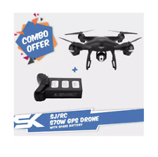 Combo Package: S70W GPS HD Camera Quadcopter RC Drone with Spare Battery (Black)