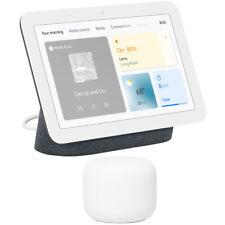 Pantalla de Smart Hub Nido de Google con Google asistente de carbón 2nd Gen + Router Wifi
