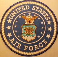 """U. S. AIR FORCE MILITARY SEAL EMBROIDERED IRON/SEW ON MOTORCYCLE 8"""" PATCH AL-1"""