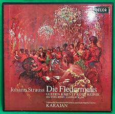 Decca SXL 6015-6 Strauss Die Fledermaus / VPO / Karajan 2LP Box Set ED2  NM/EX