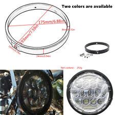 "1X Motorcycle 7"" Lamp Cover Car Round Headlight Spot Light Housing Stent Brim"