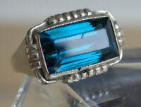Antike Ring LONDON Silber 835 Viktorianisch Jugendstil Art Deco Sterlingsilber a