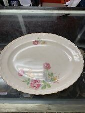 Vintage Mid-Century Pope Gosser China Rose Point Platter 13""