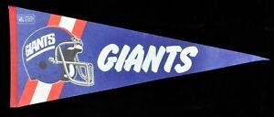 "Vintage New York Giants 1980s 29"" NFL Football Pennant Flag - Shipped Flat!"