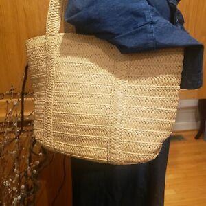 Draper James Preppy Boho Purse Everyday Woven Straw Shoulder Handbag