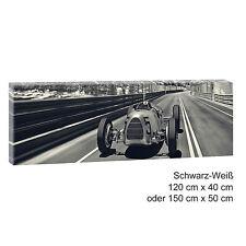 Autorennen- Panorama Bild Wandbild Keilrahmen Leinwand Poster XXL 150cm*50cm 541