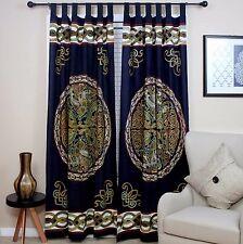 Handmade Celtic Wheel of Life 100% Cotton Tab Top Curtain Drape Panel 44x88 Inch
