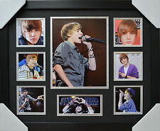 JUSTIN BIEBER SIGNED AND FRAMED LIMITED EDITION