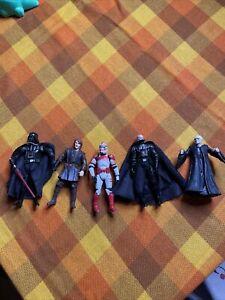 Star Wars Figure Bundle 2004 2005 X 5 Hasbro