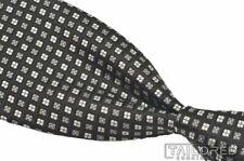 "ETRO Black Silver Geometric 100% Silk Mens Luxury Tie - 3.25"""