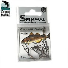 SPINWAL fishing snap & swivel,clip Marine.5pcs -65lb. lure fasten loop jigging,