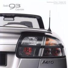 SAAB 9-3 93 CABRIO Cabriolet Linear Vector Aero Preisliste Preise 2011 28