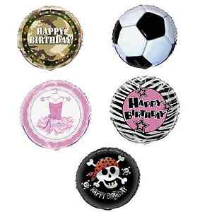 Children PARTY Themes - Foil BALLOON (Boy/Girl Birthday PARTY RANGE)