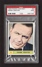 Frank Sinatra 1969 Panini Cantanti Pop Rock Music Card #92 PSA 9 MINT