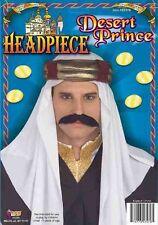 Adult Wiseman Desert Prince Headpiece Sheik Arab Head Scarf Sultan Headdress