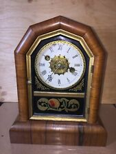 Cottage Clock and alarm by Gilbert Working, rosewood case